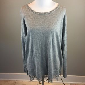 Lane Bryant Gray Rayon Blend Pullover Sweater 18
