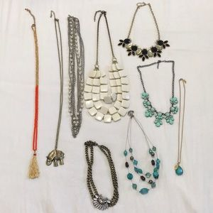 Huge necklace lot. Maurice's statement jewelry
