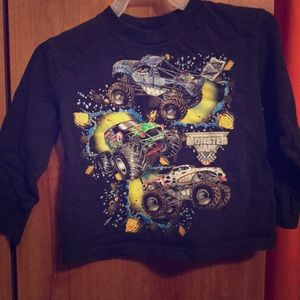 Other - Monster jam long sleeve T-shirt sz 2T Grave Digger