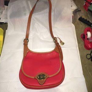 Dooney & Bourke Vintage Red AWL Purse Bag