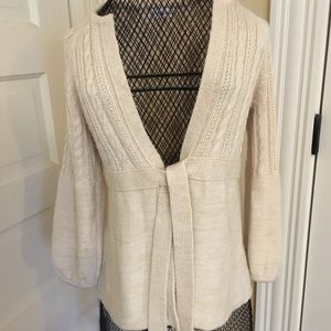 Calvin Klein long sleeve sweater with tie