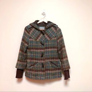 Delia's 90s Plaid Hooded Coat