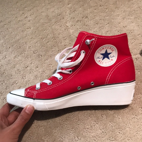 d4ea0381535 ... discount red converse all star chuck taylor wedges 49478 8335f ...