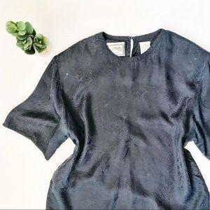 100% Silk Vintage Paisley Blouse