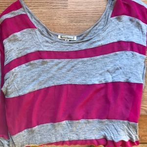 Urban Outfitters Striped Crop Tee