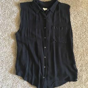 EUC Urban Outfitters Black Sleeveless Blouse