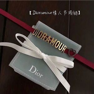 Dior dioramore heart love red choker necklace