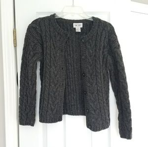 SKYR grey wool cardigan
