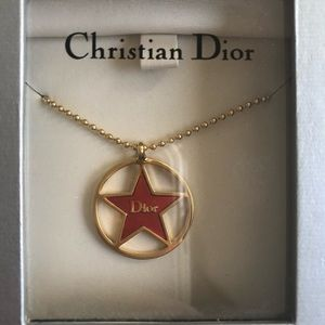 Christian Dior Red Star Necklace