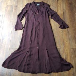 Vintage silk maxi flare dress