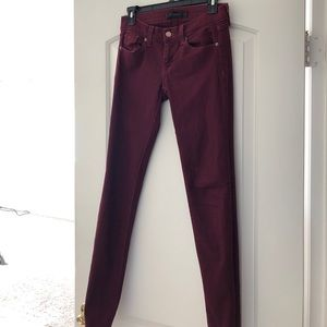 Dark red / burgundy/ maroon jeans size 3