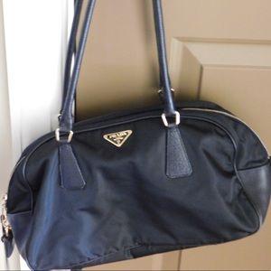 Beautiful Nylon w/ gold detail Prada Bag