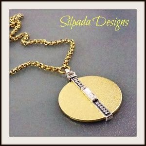 """Silpada """"In the Mix"""" Crystal Token Necklace."""