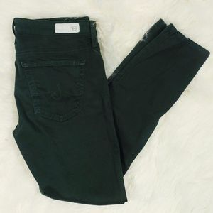Ag Adriano Goldschmied Hunter Green Skinny Jeans