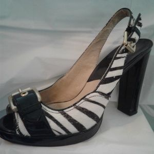 Michael by Micheal Kors Zebra slingbacks