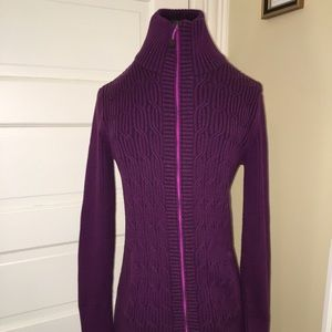 Eddie Bauer long sleeve purple zippered cardigan