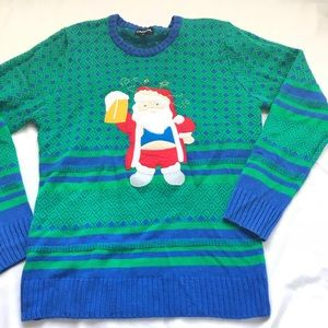 Vintage CARBON Ugly Christmas Sweater size XL