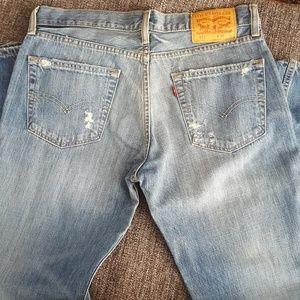 Men's Levi's 511 Slim Destruction Stonewash Jeans
