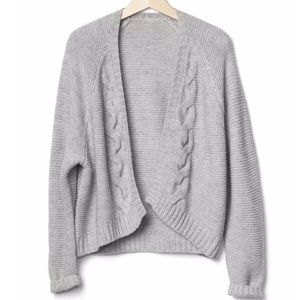 Cable Knit Sweater Chunky Wool XL Cardigan