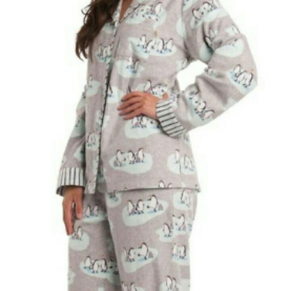 c7936e01fabdc munki munki Intimates & Sleepwear | Flannel Penguin Pajamas New ...