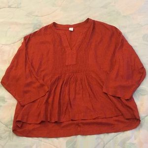Old Navy Rust Flowy Top