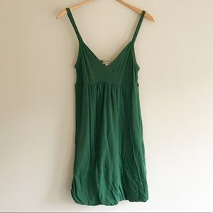 Forever 21 Green Tank Dress With Bubble Hem