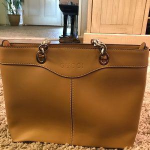 Tan Gucci purse