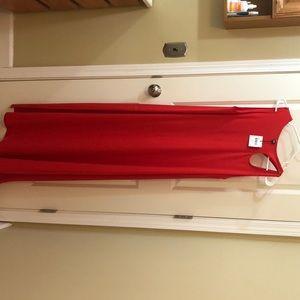 Opening ceremony, size 6, red/orange maxi dress