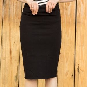 Black Pencil Skirt by A&D