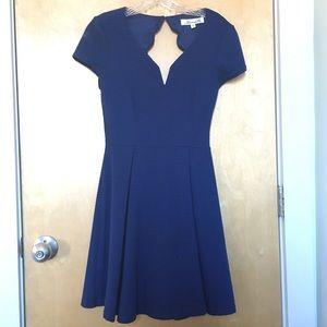 Francesca's Scallop Back Knit Dress