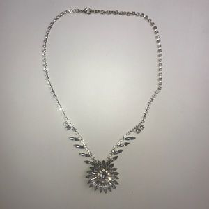 J. Crew Rhinestone Floral Necklace