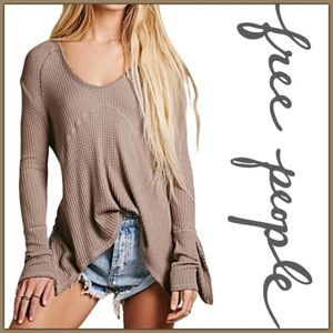 Free People Sunset Park Thermal in Taupe