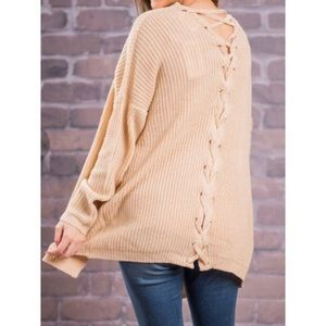 NWT Lace Me Up Cardigan