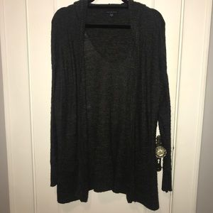 American Eagle Open Hooded Knit Cardigan