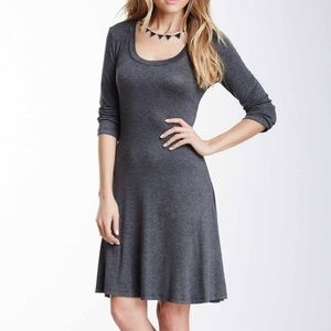 24/7 Comfort Apparel Grey long sleeve dress