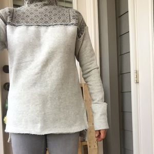 Free People Mock Neck Sweater