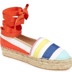 KATE SPADE Leena Espadrille Platform Shoes Sz 10