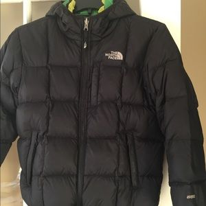 Reversible down filled North Face boys jacket
