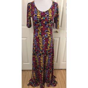 L Multicolor LuLaRoe Ana Dress NWT