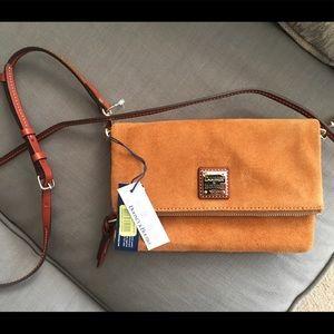 NWT Downey & Bourke suede crossbody purse