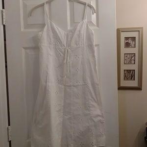 Ann Taylor Loft white eyelet dress. Size 4p