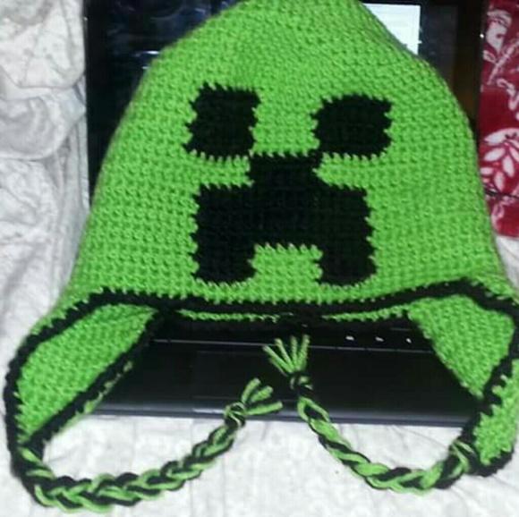 Accessories Handmade Crocheted Minecraft Creeper Hat Poshmark