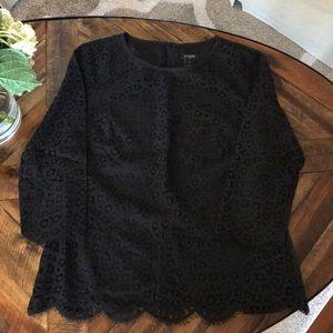 JCrew Black Lace Blouse 2