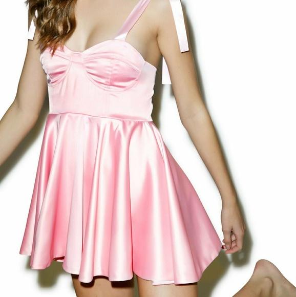 766bd021f242c Fete Champetre for Dollskill Dresses   Nwtsilk Satin Babydoll Dress ...