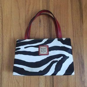 Dooney & Bourke Leather Zebra Mini Purse