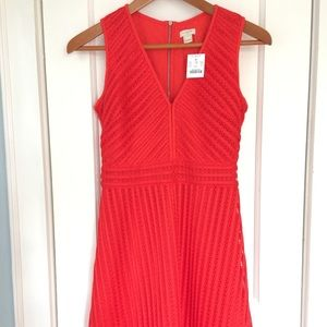 Red (orangy red) Dress