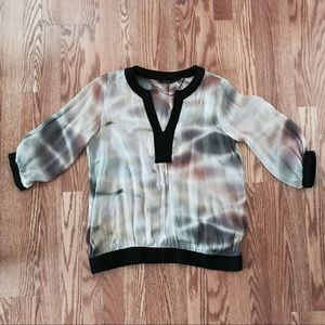 ZARA Multi-Colored Sheer Blouse