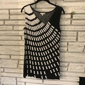 CAbi sleeveless tunic with deco pattern