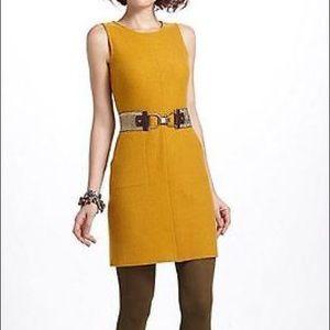 Anthropologie Sparrow Mustard Wool Dress