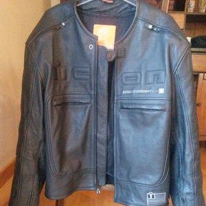 2XL 2X-Large Black ICON Contra Textile Motorcycle Jacket